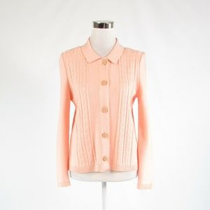 Peach MITA cardigan sweater multi-knit 6